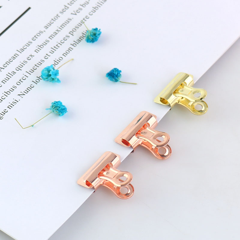 TUTU Binder Clip Office Paper Stainless Steel Rose Gold Sliver Metal Clips Sizes 25mm Office & School Supplies Stationery H0110