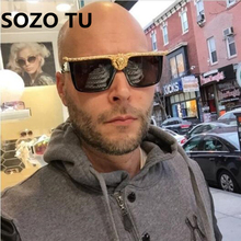 Gold 3D Lion Designer Sun Glasses