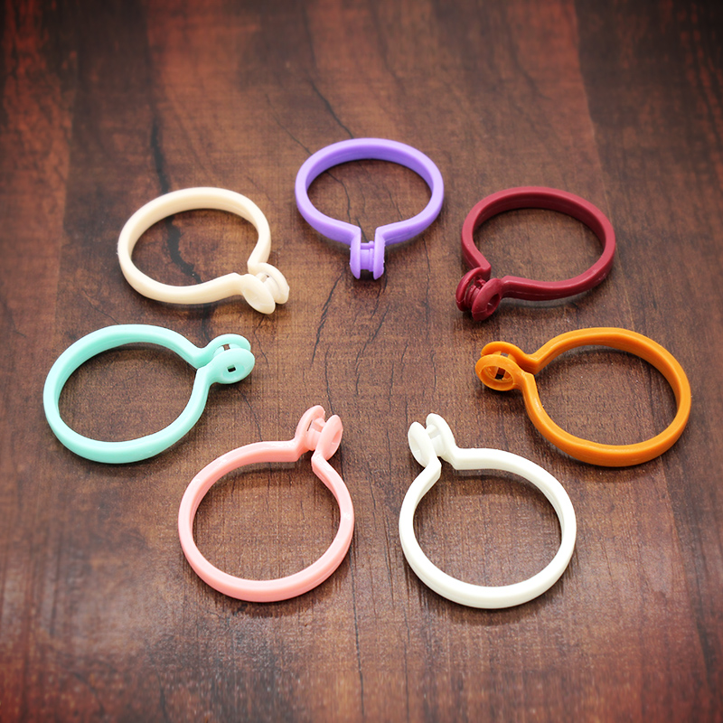 20pcs/lot multicolor curtain hook ring Rome wire rod curtain accessories