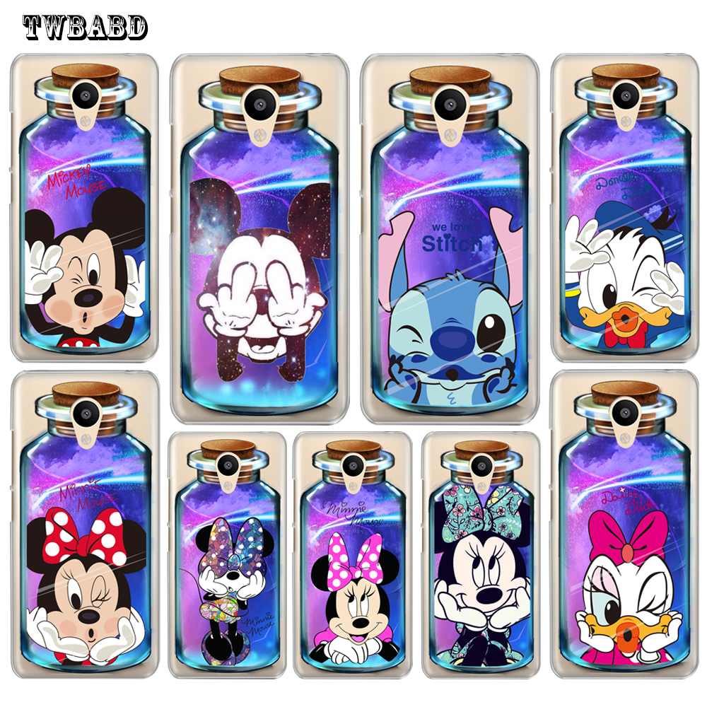 For Coque Meizu M6 Note M3Note Cute bottle Minnie Mouse case for M5 Mini M5c M5s M3 M5 M3S Pro6 U10 Slim Cover For U20