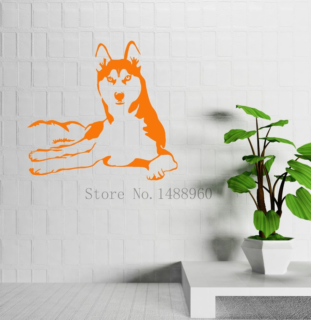 Aliexpress buy e234 husky dog animals pets veterinary dog aliexpress buy e234 husky dog animals pets veterinary dog wall decal animal wall decal wall stickers vinyl art home decor from reliable home decor amipublicfo Gallery