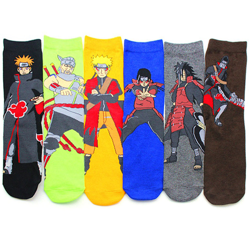 Naruto cotton cartoon   socks   personality tide   socks   anime Men Calcetines Casual   Sock   Autumn-winter Meias Sox