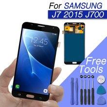 Replacements LCD screen for samsung galaxy j7 display screen digitizer assembly for galaxy j7 2015 lcd J700F J700M J700H j700