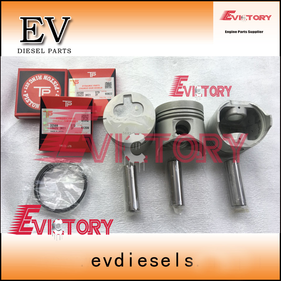 hight resolution of for isuzu 3kc1 engine rebuid kit piston piston ring full gasket kit bearing main con rod bearing in pistons rings rods parts from automobiles