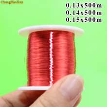 ChengHaoRan alambre de cobre esmaltado de poliuretano, 0,13, 0,14, 0,15, 500mm, 500 m/unids, QA 1 155, rojo, metros