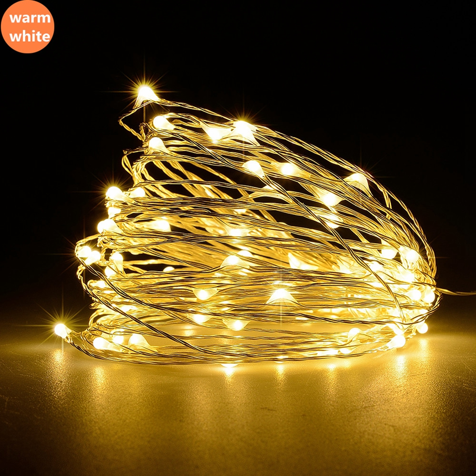 Led Strings Copper Wire 1-10M 100 3XAA Battery Usb Operated Christmas Wedding Party Decoration LED String Fairy Lights Outdoor