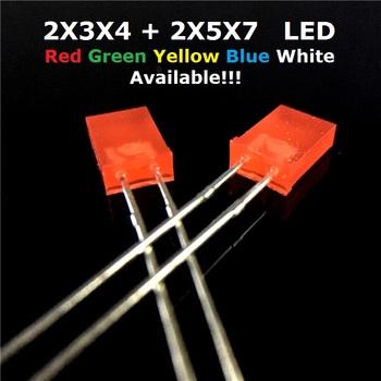 100 sztuk 2x5x 7 2x3x4 kwadratowy LED DIP biały czerwony żółty zielony niebieski wysokiej jakości koralik 2*3*4 2*5*7 dioda elektroluminescencyjna tanie i dobre opinie YUFO-IC Other Nowy JH A JH M LED DIODE JH High goods