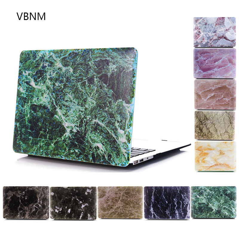 vbnm ice crack marble laptop case shell for apple macbook air pro retina 11 13 15 inch hard