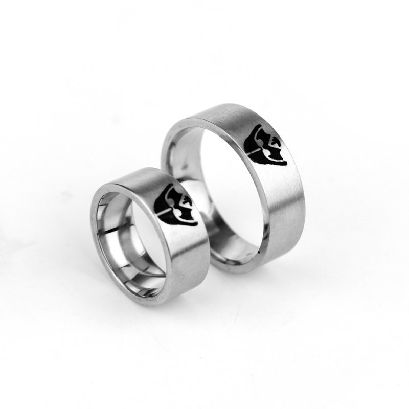 2017 Hot Game Club Jewelry Star Wars Storm Trooper Rings Linkin Park Tungsten Carbide Band Finger Ring Death Vader Anel JEWELRY