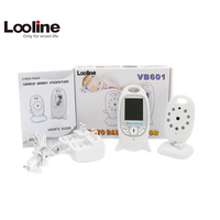 Wireless Video 2.0 inch Color Baby Monitor Security Camera 2 Way Talk NightVision IR LED Temperature Monitoring with 8 Lullaby