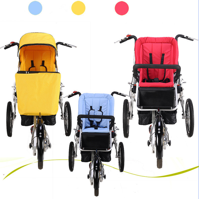 Brand Taga Bike Similar Mother And Baby Car Bike Stroller Parent-Child Twins Bicycle Strollers Foldable Baby Trolley