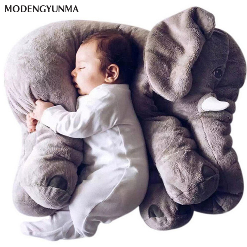 Nerlero 40cm/60cm Elephant Pillow Infant Soft Playmate Calm Doll Baby Pillow Top Girl Friend Elephant Plush Stuffed Pillow Gift
