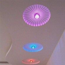 Lámpara de pared o de techo LED de 3 W, lámpara de techo empotrada de girasol, aplique para cafetería, Karaoke, Bar, decoración, accesorio de lámpara
