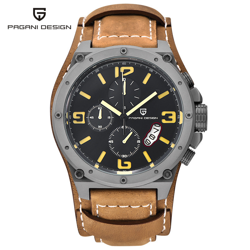 reloj hombre Leather Sport Watches Men Quartz Watch Clocks Relogio Masculino 2017 Luxury Brand PAGANI DESIGN luxury brand casima men watch reloj hombre military sport quartz wristwatch waterproof watches men reloj hombre relogio