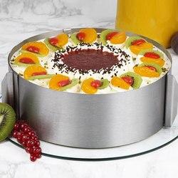 Acier inoxydable rétractable cercle Mousse anneau moule cuisson outil ensemble gâteau moule taille réglable ustensiles de cuisine ustensiles JY