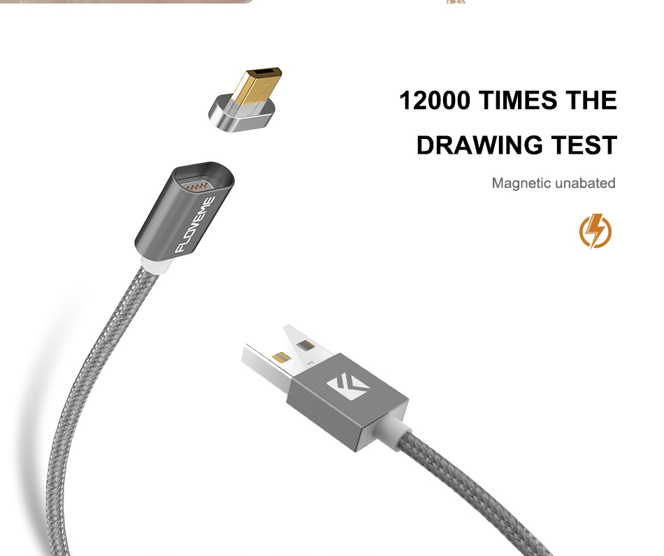Magnetic USB Cable Upgraded 1 Line 2 USB For iPhone 7 6 6S Plus 5 5S SE Cables Micro USB  (5)