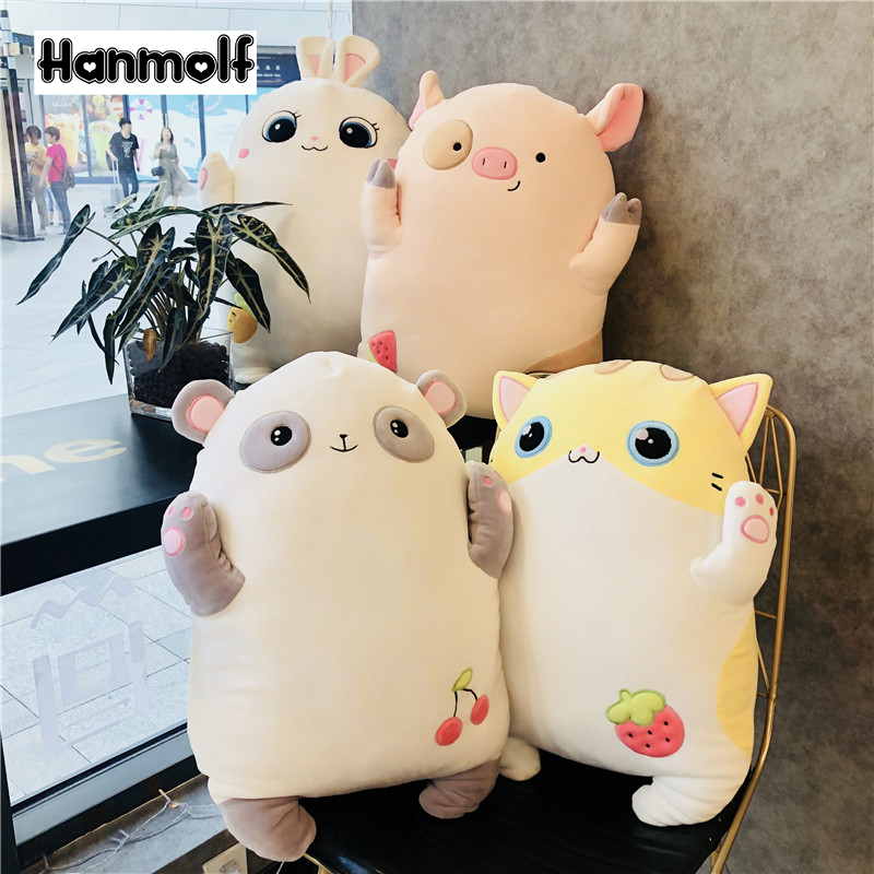 Toys & Hobbies Official Website Fruits Animal Plush Pillow Stuffed Panda/cat/pig/rabbit Standing Huggable Animals Stuffed Throw Pillow Bolster Decor 52cm