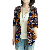Personal Tailor Women Retro African Blazer Female Pattern Printed Suit Outwear Outfits Lady Dashiki Clothes
