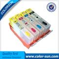 4 цветов Многоразового Картридж для HP 670 670XL Для HP Deskjet 3525 5525 4615 4625 С Чипами