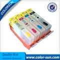 4 cores cartucho de tinta recarregáveis para hp 670 670xl para hp deskjet 3525 5525 4615 4625 com chips
