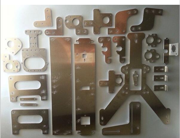 all metal Reprap MendelMax 2.0 complete plates set/kit(drilled & bended) for DIY 3D printer parts Aluminum (drilled & bended)
