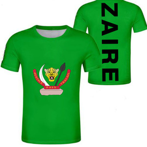 Image 4 - ZAIRE male youth custom made name number zar casual t shirt nation flag za congo country french republic print photo clothes
