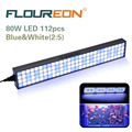 Floureon 60W 25inch LED Aquarium Light&Fish Tank Light for Freshwater/Saltwater,112pc LED Light for Coral Reef Grow,with Bracket