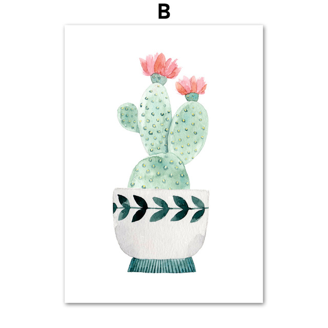 Watercolor-Cartoon-Potted-Cactus-Flower-Wall-Art-Canvas-Painting-Nordic-Posters-And-Prints-Wall-Pictures-Kids.jpg_640x640 (1)