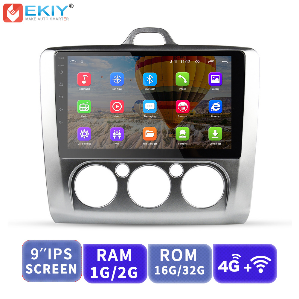 EKIY Car Multimedia Video Player <font><b>GPS</b></font> Navigation Android Autoradio <font><b>For</b></font> <font><b>Ford</b></font> <font><b>Focus</b></font> 2 3 Mk2 Mk3 Head Unit 1G+16G with 4G Modem image