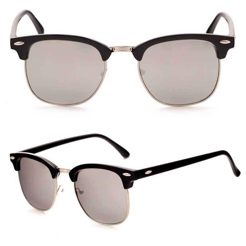 Occhiali da sole semi-rimless polarizzati LeonLion donna/uomo polarizzati UV400 Classic Brand Designer Retro Oculos De Sol Gafas