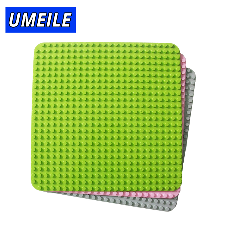 UMEILE 572 Dot Square Baseplate Building Block 38.4cm*38.4cm Diy Brick Base Plate Kids Toys Compatible With Legoing Duplo Gift gorock 527 dots large size baseplate big base plate exlarge brick solid plate building block toys compatible duplo for kids gift