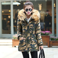 Green Parka Coat With Fur Hood Parkas For Women Winter Womens Quilted Coat 2016 Ukraine Winter Jacket Long Coats Manteau Femme
