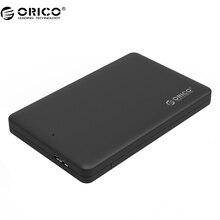 "ORICO 2577U3 2.5"" USB 3.0 SATA HDD Box HDD Hard Disk Drive External HDD Enclosure Black Case"
