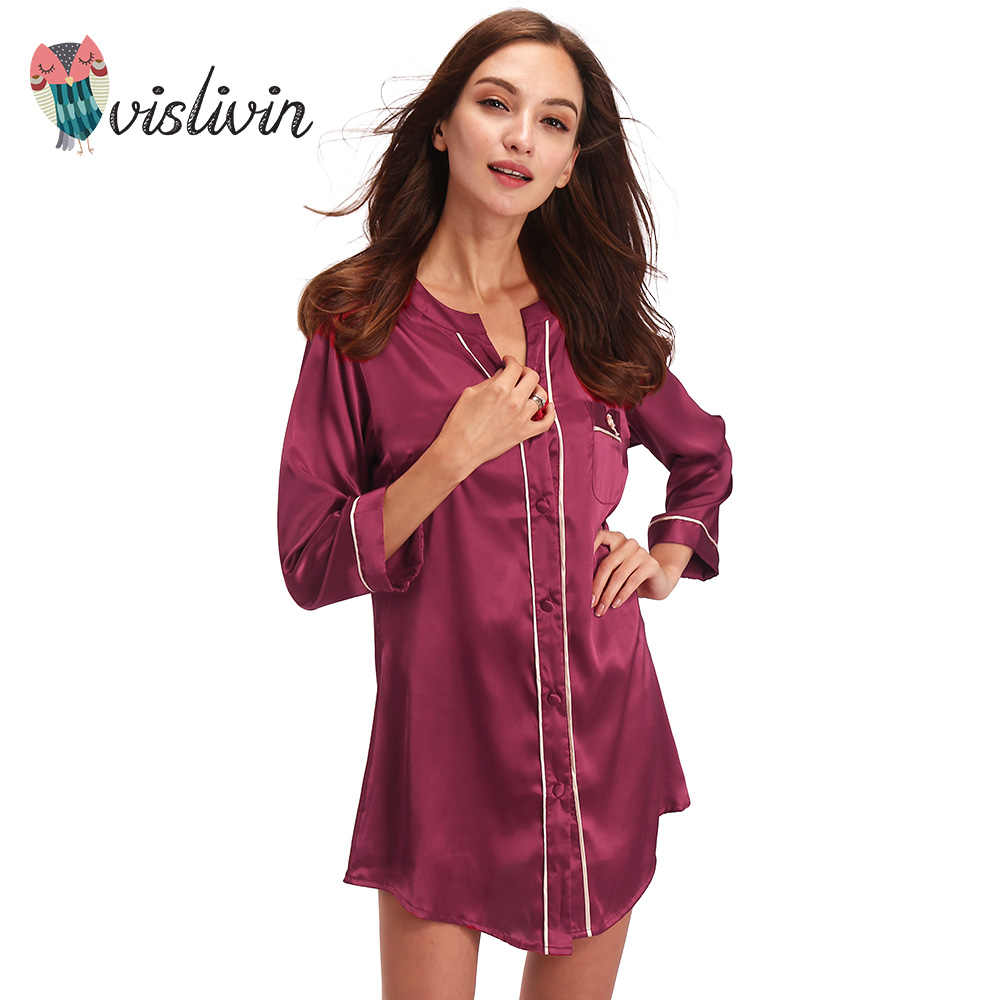 Vislivin Silk Dressing Gown Bath Robe High grade Quality Button ...