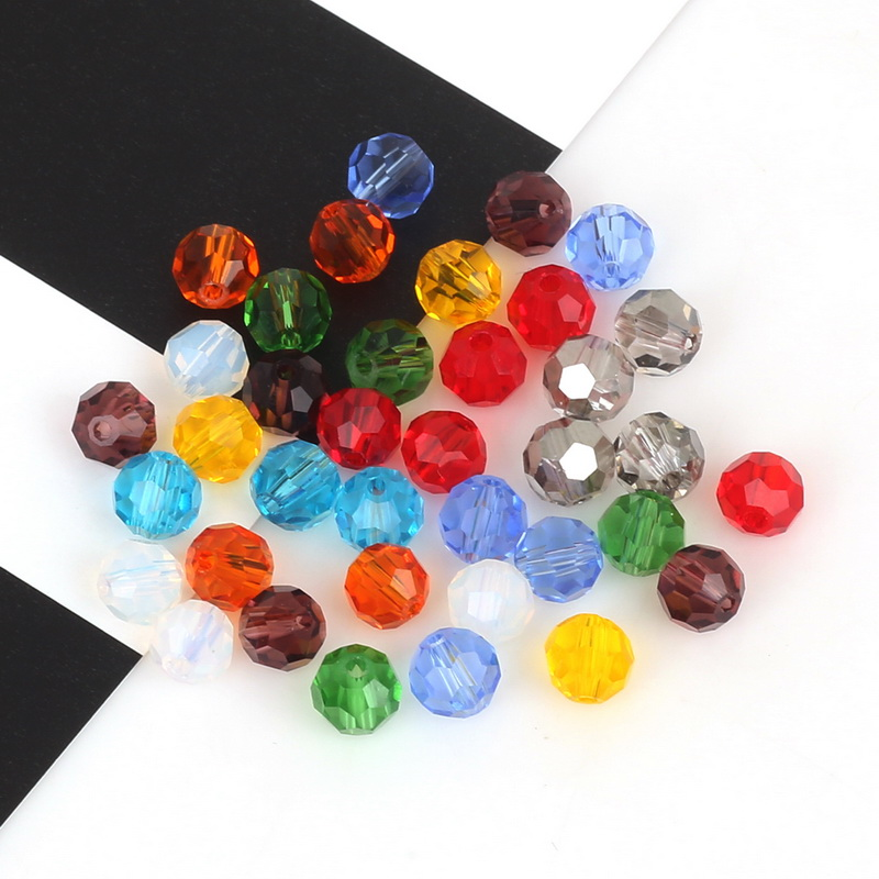 50Pcs DIY Czech Crystal Glass Bicone Faceted Spacer Loose Beads Findings 8*6mm