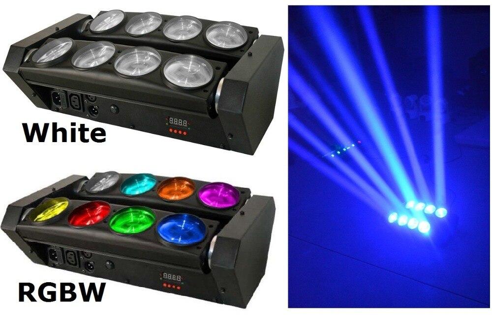 2 xLot новая движущаяся головка Led Spider Light 8x10 W 4в1 RGBW Led вечерние лазерная подсветка для DJ луч движущаяся голова луч точечные огни, бесплатная дос