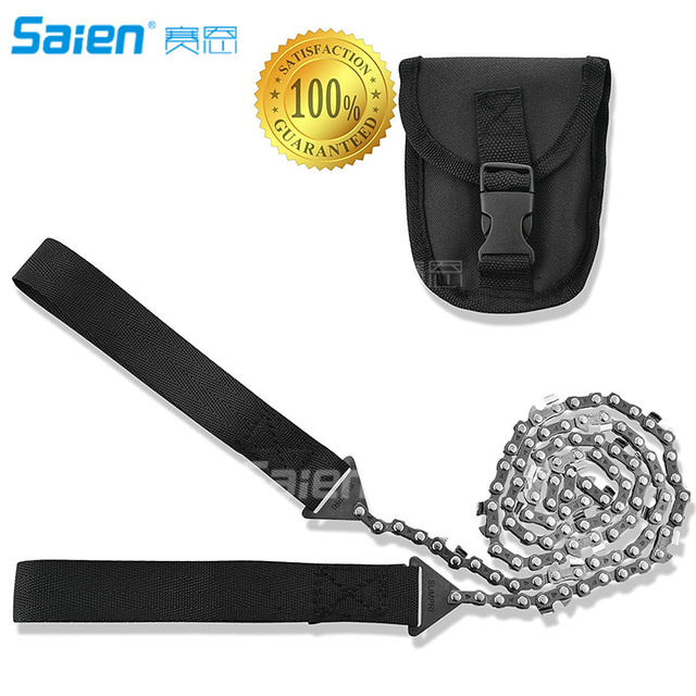 Survival Pocket Chain Saw Chainsaw 24 Inches Portable Hand Saw For Camping Hiking Backpacking Hunting Boy-scouts Emergency Gear 3