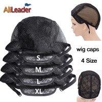 10 Pçs/lote XL/L/M/S Ajustável Tampas Peruca de Cabelo Redes de Malha Stretch Lace Wig Caps Para Fabricação de fabricação de Perucas Filé Pour Perruques