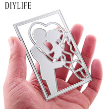 Hot Sell Metal Love Square Shaped Die Cutters For scrapbooking DIY Decorations Paper Craft Tool Cutting Template