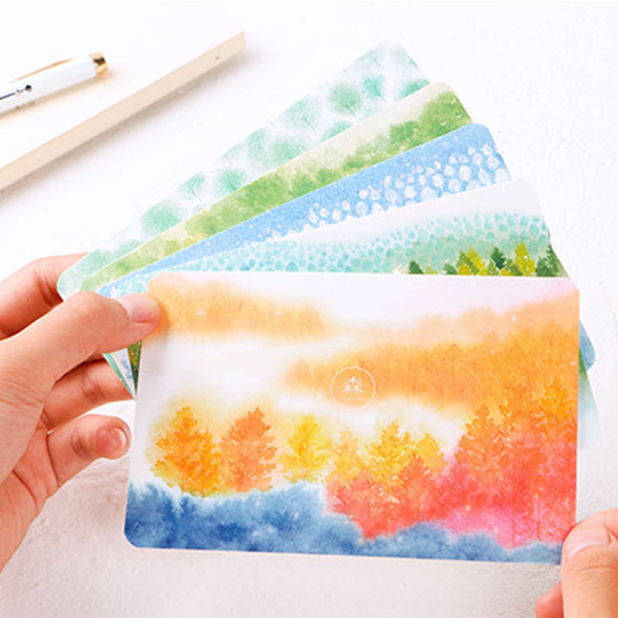 Infeel Firefly Forest Postcard Bookmark Greeting Card Letter