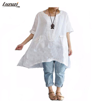 1 PC Blouse Shirt Women Large Size Blouse Shirt Women Solid Color Square Collar Spring Summer
