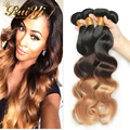 Grade 8A Malaysian Virgin Hair Body Wave Ombre Hair Extension  1B/4/27 Queen Hair Products Malaysian Body Wave 4 Pieces Lot