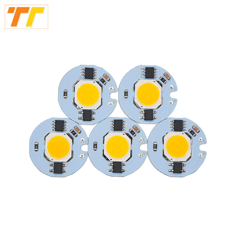 цена на 5 pcs lot LED COB Chip 9W 7W 5W 3W Integrated beads AC220V 230V Matrix LED Spotlight Projector Flood Light Outdoor easy to DIY