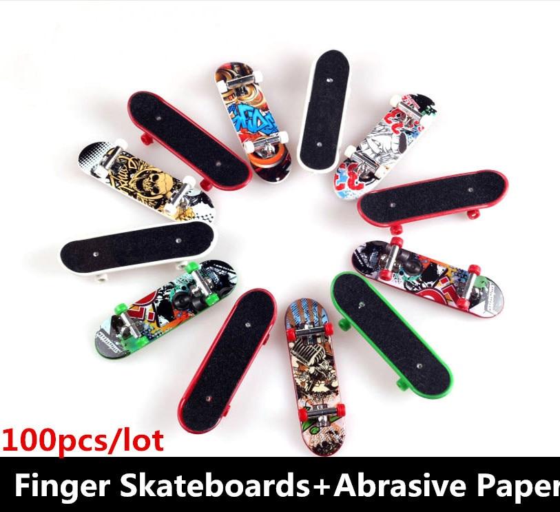 100 pieces lot Toys Hobbies Novelty Hip Hop style Finger Skateboard Classic toys for children Finger