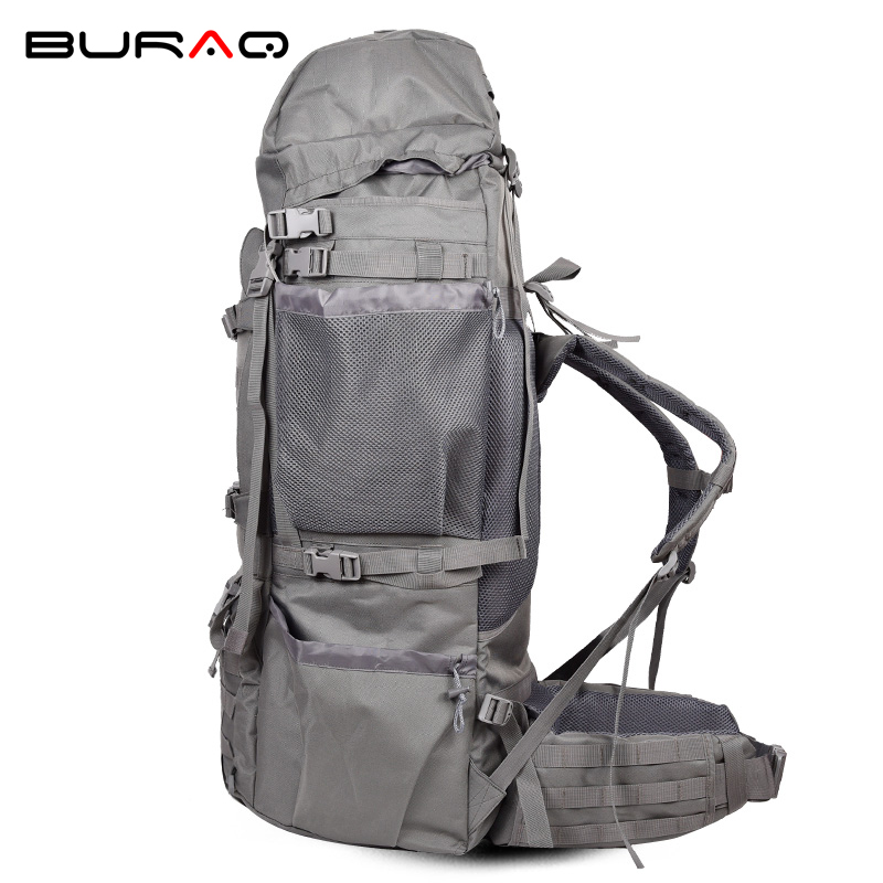 Professional High Quality 600D Nylon Metal Frame Softback Material Internal Frame Unisex Long Distance Travel Backpack T0105