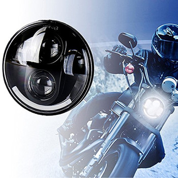 5.75 Inch Round LED Headlight moto For Harley Davidson Motorcycle Headlamp Projector Driving Light (Smiley Face Headlights ) harley davidson headlight price