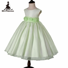 Free Shipping Formal 2T- 8T Kids Evening Gowns 2019 New Arrival Child Party Dress Organza Green Flower Girl Dresses For Weddings 2018 brand new toddler infant kids child party wedding formal dresses rose girl princess dress flower chiffon sundress kids 2 8t
