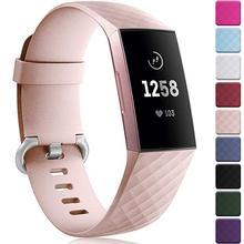 12 ألوان أسورة ساعة ذكية ل Fitbit تهمة 3 4 حزام الرياضة استبدال الملحقات ل fitbit الفرقة correa ل fitbit charge3 4
