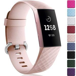 Image 1 - 12 renk akıllı saat bilezik Fitbit şarj için 3 4 kayış spor aksesuarları değiştirin fitbit band için correa fitbit charge3 4