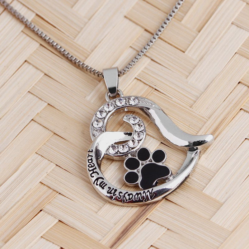 2018 New Always In My Heart New Pendant Leather Chain Necklace Jewelry For Couples Father Mothers Day